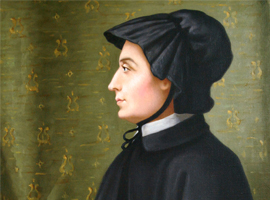 St. Elizabeth Ann Seton is depicted in an undated portrait. She opened the first free Catholic schools for the poor. (CNS photo/courtesy of The Daughters of Charity)