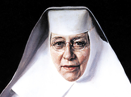 An image of St. Katharine Drexel who founded schools and missions to serve African Americans and Native Americans.