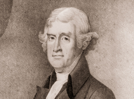 Thomas Jefferson third president of the United States is depicted in a print from the Library of Congress archives. (Print courtesy of the Library of Congress)