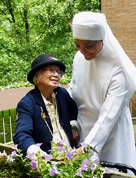 Scene from a nursing home operated by the Little Sisters of the Poor