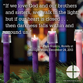 Advent - If we love God and our brothers panel