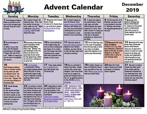 Advent 2019 Print Calendar
