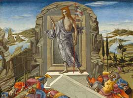 The Resurrection by Benvenuto di Giovanni, courtesy Samuel H. Kress Collection, National Gallery of Art.