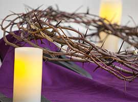 A crown of thorns in a New York Church is symbolic of Lent.  CNS Photo/Octavio Duran