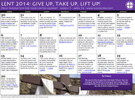 Download and print our Lenten calendar at the link below.