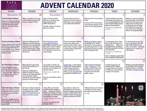 Image of Advent 2020 Calendar