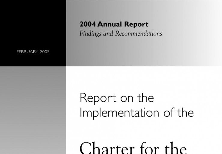 2004 Annual Report on the Implementation of the Charter for the Protection of Children and Young People