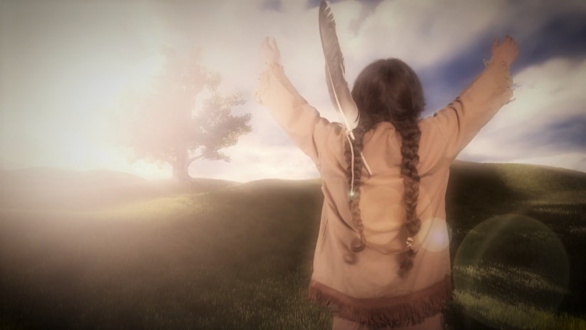 "An image from ""Black Elk's Journey."""