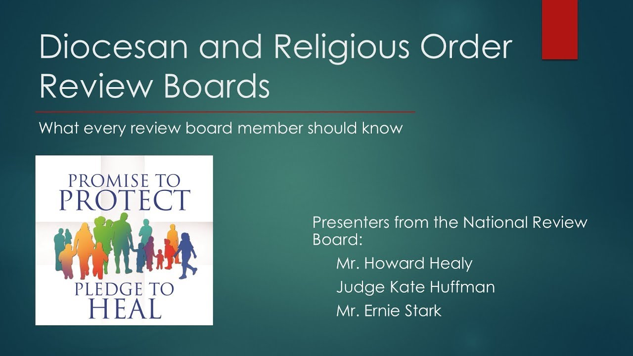 Diocesan and Religious Review Boards: What Every Member Should Know