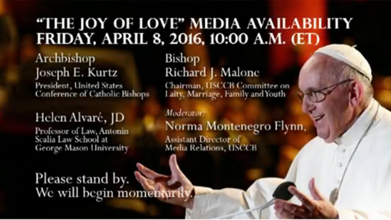 Amoris Laetitia - The Joy of Love - Media Conference
